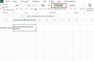4 cách xuống hàng trong Excel MacBook tiện dụng CẦN NHỚ!